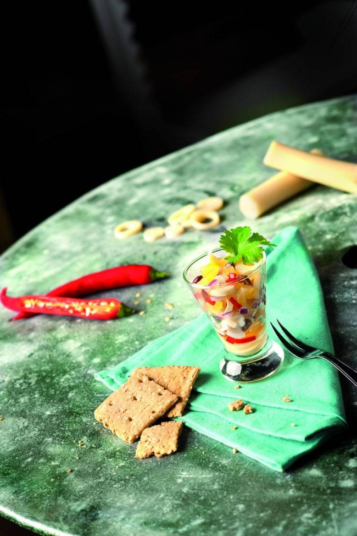Ceviche van palmharten Oxfam recept