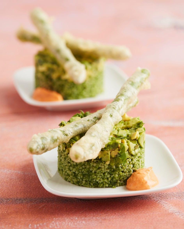 Groene couscoussalade met avocado en basilicum Oxfam recept