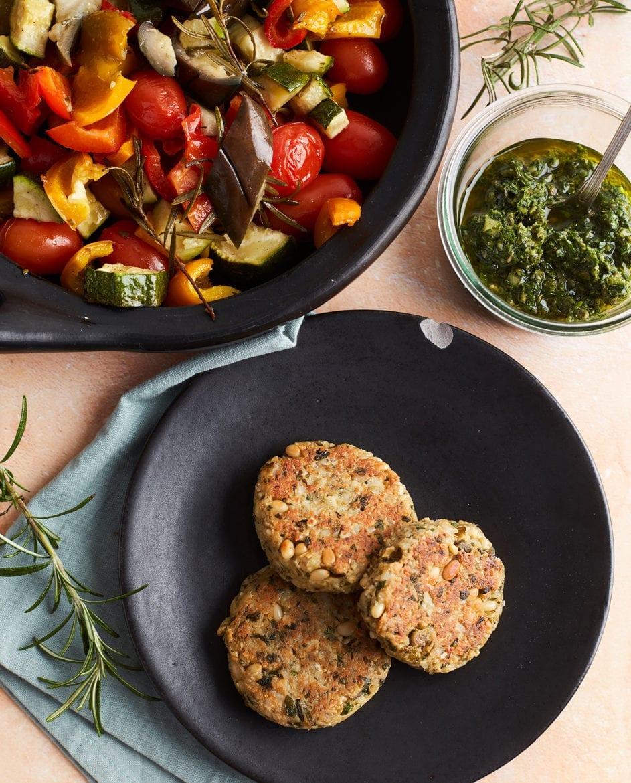 Groene-olijvenburger met cashewnoten en koriander Oxfam recept