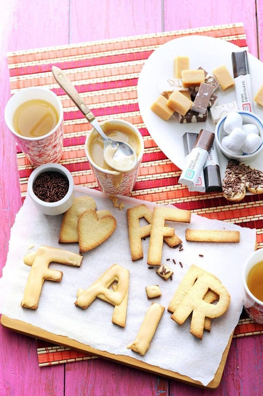 Koekjes met koffieglazuur Oxfam recept