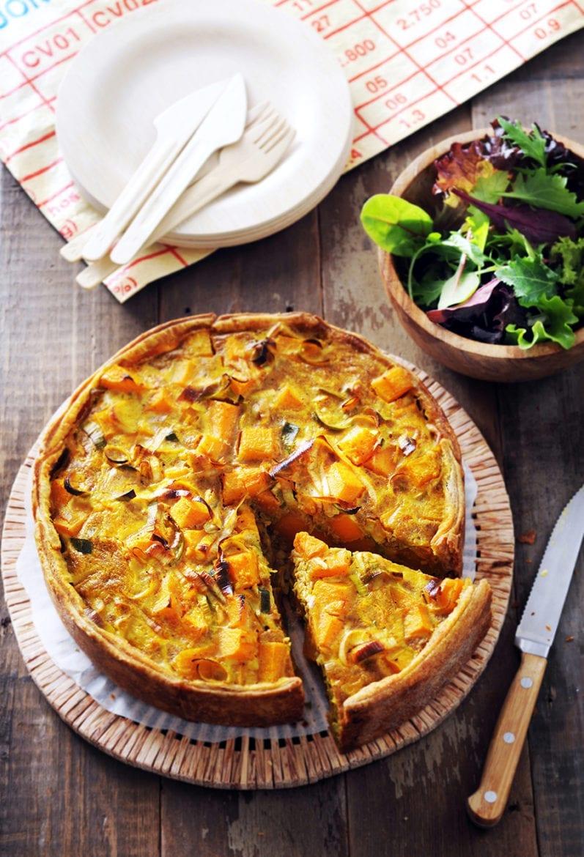 Kruidige curry pompoentaart Oxfam recept