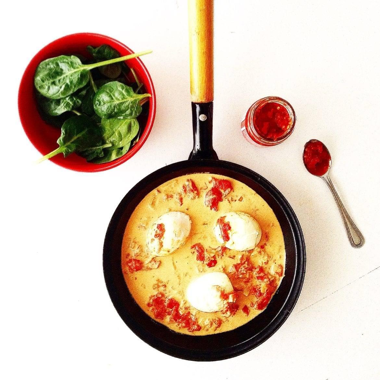 Pikante curry met zachtgekookte eitjes Oxfam recept