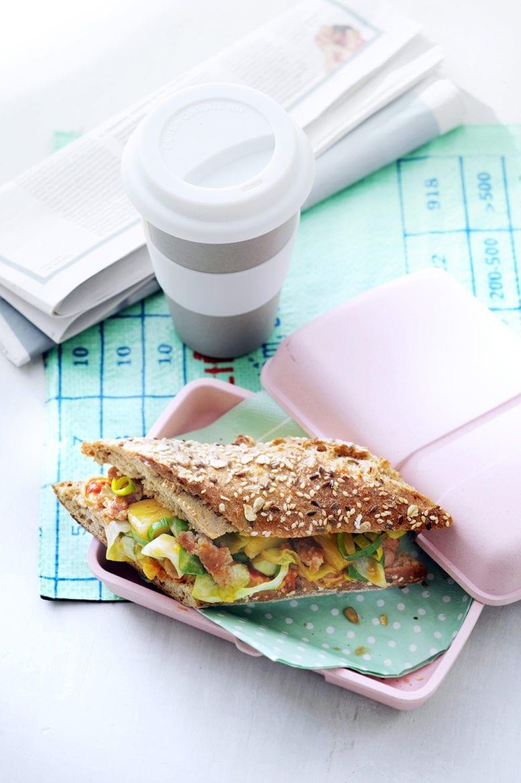 Pittig broodje met kipgehakt Oxfam recept