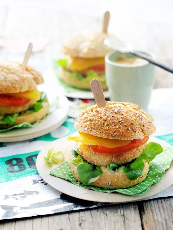 Pittige visburger met mango Oxfam recept
