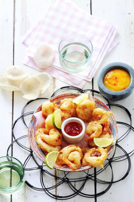 Thaise fish 'n chips met mango-chilisaus Oxfam recept