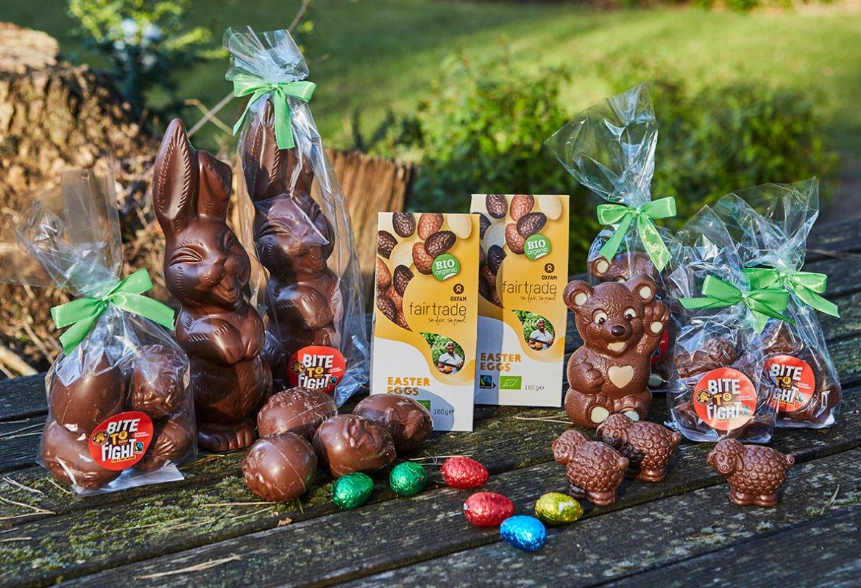 assortiment oxfam fairtrade paaschocolade