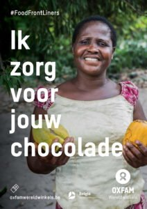 foodfrontliners world fair trade day chocolade poster
