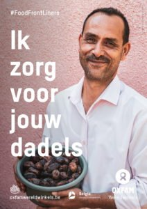 foodfrontliners world fair trade day dadels poster