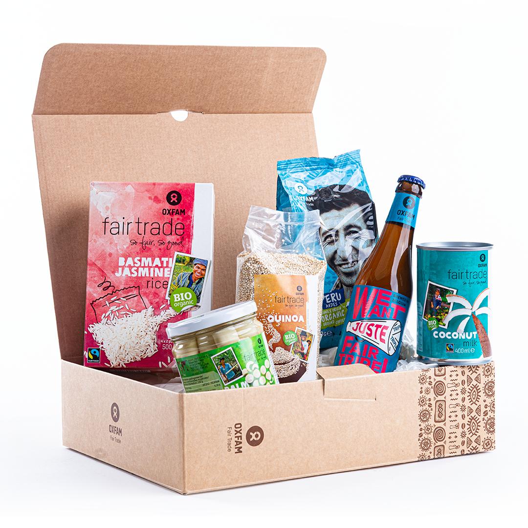 geschenkpakketten met fairtradetoppers